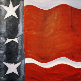 Three Texas Flags By Jim Lively