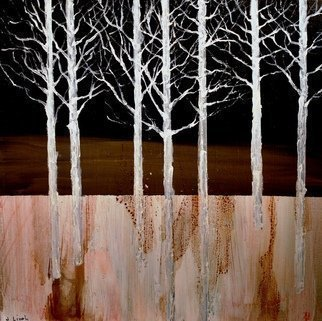 Jim Lively: 'Winter Midnight', 2016 Mixed Media, Landscape.  Zinfandel Wine and Acrylic on canvas. ...