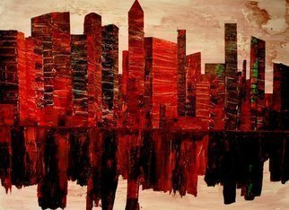 Jim Lively: 'Zin City', 2013 Acrylic Painting, Surrealism.    Acrylic and Red Zinfandel on canvas. Part of