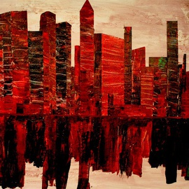 Jim Lively: 'Zin City', 2013 Acrylic Painting, Surrealism. Artist Description:    Acrylic and Red Zinfandel on canvas. Part of