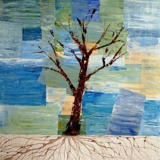 Jim Lively: 'Zin Tree', 2014 Other, Surrealism.              Zinfandel Wine and Acrylic on canvas. Part of