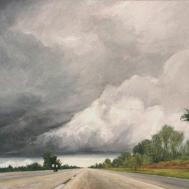 Approaching Storm Turnpike  By James Morin