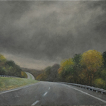approaching storm highway By James Morin