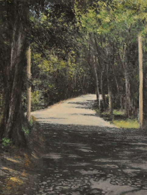 James Morin  'Back Road', created in 2020, Original Painting Oil.