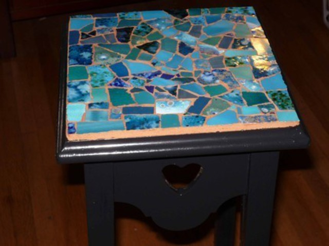James rose artwork small side table original mosaic for Table sae j 300 th 1999