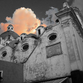 Jim Wright: 'church and cloud', 2002 Color Photograph, Christian. Artist Description:  church - isle of capri, italy    ...