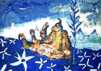 Artist: Jimy Portal - Title: Paraiso azul - Medium: Watercolor - Year: 2007