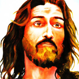 Jiswin Sunny: 'Portrait of Jesus', 2013 Acrylic Painting, Portrait. Artist Description:  A still life expression of Jesus, depicted in a modern dramatic way. ...