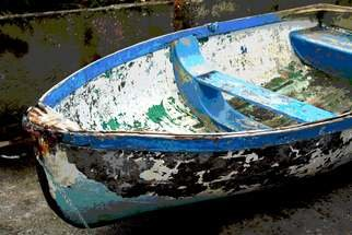Joan Shannon Artwork Boat of many colours, 2011 Color Photograph, Landscape