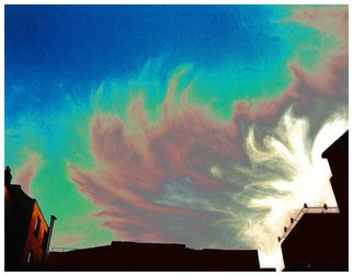 Artist: Joan Shannon - Title: Coloured sky in Dublin - Medium: Color Photograph - Year: 2011