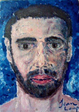 Hans Wolf: 'Self Portrait', 2003 Acrylic Painting, Portrait.  This is the other piece of the 5X7 series. ...