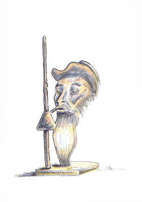 Jean-luc Lacroix Artwork Don Quichotte drawing, 2015 Other Drawing, Portrait
