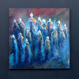 Jean-luc Lacroix Artwork HYMNE painting, 2015 Acrylic Painting, Mystical