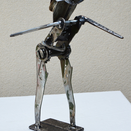 Jean-luc Lacroix Artwork Le randonneur sculpture, 2014 Steel Sculpture, Inspirational