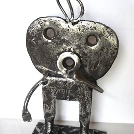 Jean-luc Lacroix Artwork MATHIEU, 2015 Steel Sculpture, Children