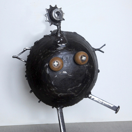Jean-luc Lacroix Artwork Mam sculpture, 2015 Steel Sculpture, Humor
