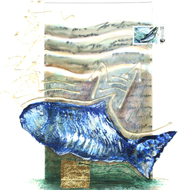 Jean-luc Lacroix Artwork POISCAILLE, 2012 Other Painting, Fish