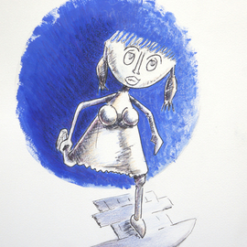 Jean-luc Lacroix Artwork la marelle drawing, 2014 Other Drawing, Children