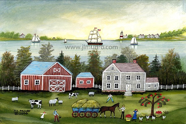 Janet Munro  'A Salt Water Farm', created in 2015, Original Painting Other.