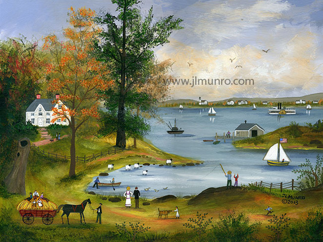Janet Munro  'Autumn On Nantucket Sound', created in 2015, Original Painting Other.