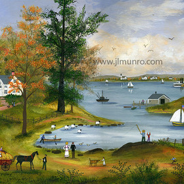 Autumn on Nantucket Sound  By Janet Munro