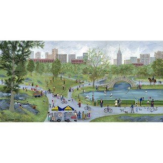 Janet Munro: 'Central Park', 2015 , Americana. Artist Description:  Central ParkThese certified archival giclee reproductions are made with the most advanced technology. They retain the minute detail, subtle tints, blends and feel of the original painting - and are of the same high quality as gicle prints being shown in major museums and galleries, such as The ...
