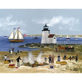 Clam Bake at Brant Point, Nantucket  By Janet Munro