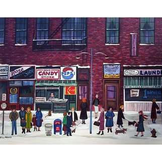 Janet Munro: 'Columbus Avenue', 2015 , Americana. Artist Description:  Columbus AvenueThese certified archival giclee reproductions are made with the most advanced technology. They retain the minute detail, subtle tints, blends and feel of the original painting - and are of the same high quality as gicle prints being shown in major museums and galleries, such as The ...