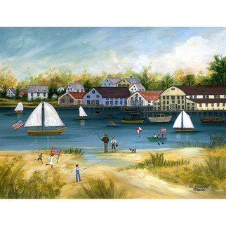 Janet Munro: 'Crosby Boat Yard', 2015 , Americana. Artist Description:  Crosby Boat YardThese certified archival giclee reproductions are made with the most advanced technology. They retain the minute detail, subtle tints, blends and feel of the original painting - and are of the same high quality as gicle prints being shown in major museums and galleries, such as ...