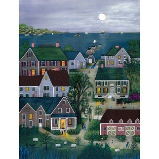 Janet Munro: 'Evening on Nantucket', 2015 , Americana. Artist Description:  Evening on NantucketThese certified archival giclee reproductions are made with the most advanced technology. They retain the minute detail, subtle tints, blends and feel of the original painting - and are of the same high quality as gicle prints being shown in major museums and galleries, such as ...
