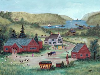 Janet Munro Artwork Farm on the Hudson, 2011 Other Painting, Americana