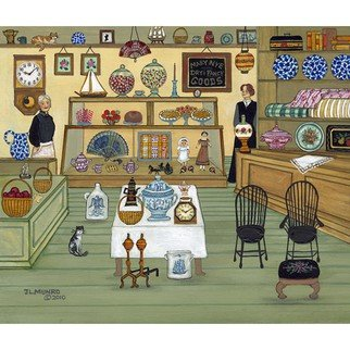 Janet Munro: 'Mary Nyes Shop', 2015 , Americana. Artist Description:  Mary Nye's ShopThese certified archival giclee reproductions are made with the most advanced technology. They retain the minute detail, subtle tints, blends and feel of the original painting - and are of the same high quality as gicle prints being shown in major museums and galleries, such ...