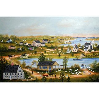 Janet Munro: 'Nantucket Farms', 2015 , Americana. Artist Description:  Nantucket FarmsThese certified archival giclee reproductions are made with the most advanced technology. They retain the minute detail, subtle tints, blends and feel of the original painting - and are of the same high quality as gicle prints being shown in major museums and galleries, such as The ...