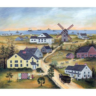 Janet Munro: 'Old Mill on Nantucket', 2015 , Americana. Artist Description:  Old Mill on NantucketThese certified archival giclee reproductions are made with the most advanced technology. They retain the minute detail, subtle tints, blends and feel of the original painting - and are of the same high quality as gicle prints being shown in major museums and galleries, such ...
