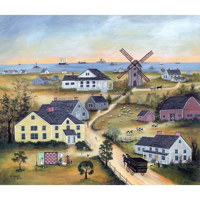 Janet Munro  'Old Mill On Nantucket', created in 2015, Original Painting Other.