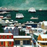 WINTER IN NANTUCKET HARBOR By Janet Munro