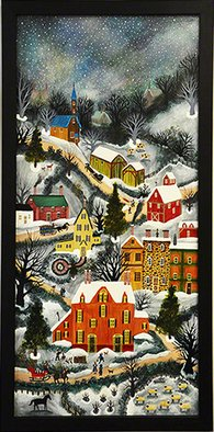 Janet Munro Artwork Winter in New England, 1983 Other Painting, Americana