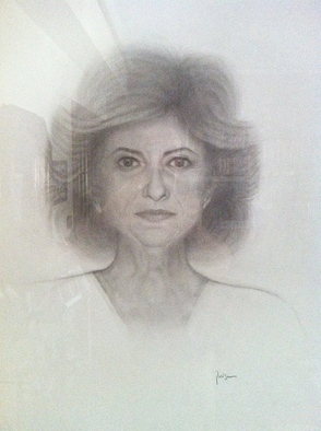 Pencil Drawing by Jose Luis Munoz Rodriguez titled: Mother, 2014