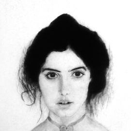 Jose Luis Munoz Rodriguez Artwork Young lady, 1984 Pencil Drawing, Portrait