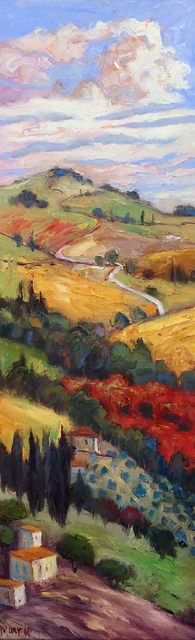 John Maurer  'Autumn In Toscana', created in 2020, Original Painting Acrylic.