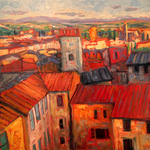 rooftops of siena By John Maurer