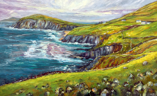 John Maurer  'Slea Head Dingle Peninsula', created in 2018, Original Painting Acrylic.