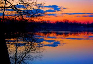 Artist: Mark Goodhew - Title: Cloud Reflections at Sunrise - Medium: Color Photograph - Year: 2015