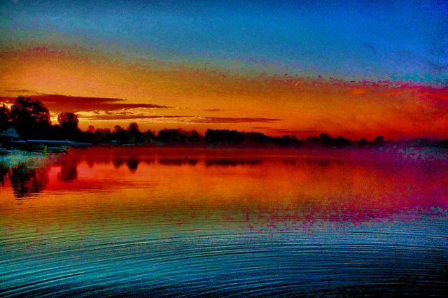 0e89002ac1 Artist Mark Goodhew. 'Water Ripple Sunrise' Artwork Image, Created in 2015,
