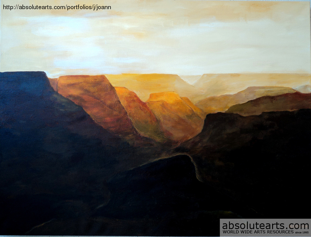 Jo Allebach  'The Canyon', created in 2013, Original Painting Acrylic.