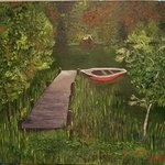 boat dock By Jo Allebach