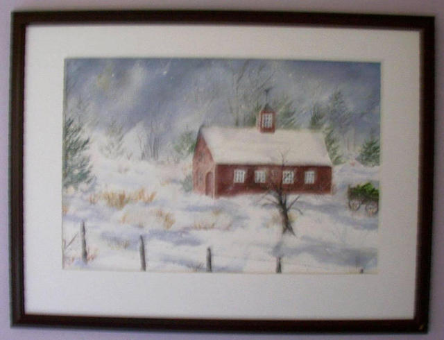 Joanna Batherson  'Winter In New England', created in 2003, Original Watercolor.