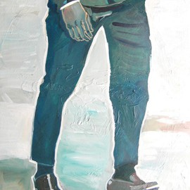 Joanna Glazer: 'Body Guard', 2014 Acrylic Painting, Portrait. Artist Description:  Legs    ...