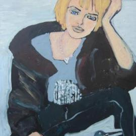 Joanna Glazer: 'Thinker', 2011 Acrylic Painting, Portrait. Artist Description:   Step by Step    ...