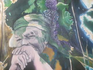Joao Rebelo: 'Vintage', 2010 Acrylic Painting, Representational.      Grapes, Soul, people     ...